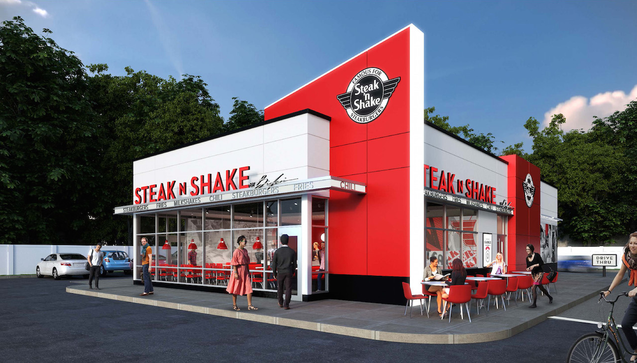 "In sight it must be right In , Steak 'n Shake pioneered the concept of a ""better burger"" by hand-crafting burgers made with cuts of steak, the Steakburgers™."